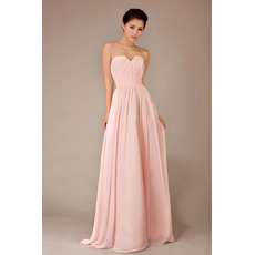 Classy Chiffon Sweetheart Floor Length A-Line Bridesmaid Dresses