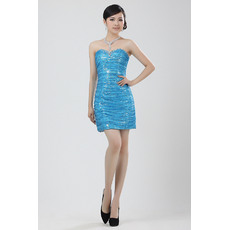 Trendy Sequined Column/ Sheath Sweetheart Short Dresses for Cocktail Party