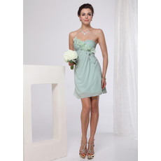 Romantic Chiffon Short Column/ Sheath Sweetheart Cocktail/ Bridesmaid Dresses