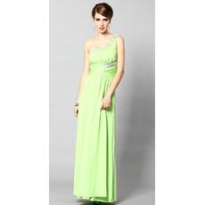 Pretty One Shoulder Sheath/ Column Ankle Length Formal Evening Dresses