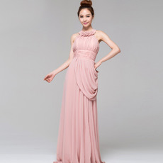 Attracitve Lace Halter Column/ Sheath Ankle Length Formal Evening Dresses