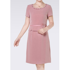 Affordable Sheath Chiffon Short Sleeves Short Column Mother of the Bride/ Groom Suits