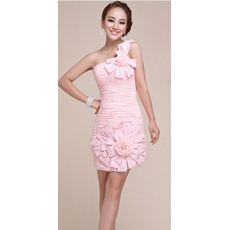 Discount One Shoulder Short Column Homecoming/ Graduation Dresses
