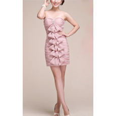 New Style Sweetheart Sheath Short Chiffon Homecoming/ Graduation Dresses