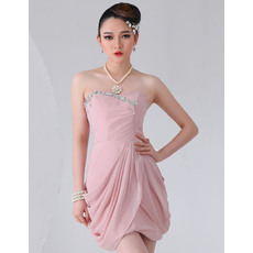 Charming Chiffon Short Sheath Sweetheart Homecoming Dresses
