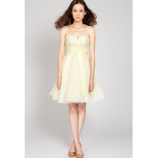 Pretty A-Line Sweetheart Short Chiffon Junior Homecoming Dresses