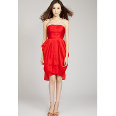 Beautiful Column Strapless Short Taffeta Homecoming Dresses