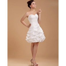 Designer A-Line Sweetheart Ruched Short Beach Wedding Dresses for Summer
