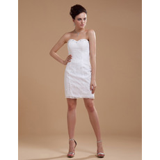 Chic Sweetheart Sheath/ Column Sweetheart Short Beach Wedding Dresses for Summer