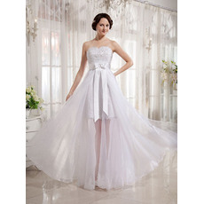 Elegant Sexy Sheath/ Column Sweetheart Wedding Dresses with Trains