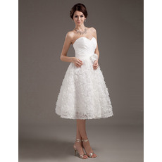 Discount Ruched Bodice Satin Reception Wedding Dresses with Floral Lace Skirt