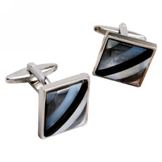 Vintage Square Conch Shirt Cufflinks for Business/ Wedding