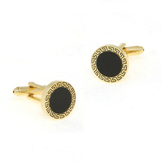 Inexpensive Round Cufflinks for Party/ Wedding/ Business
