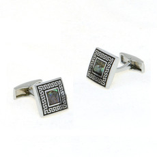 Vintage Square Carved Mens' Cufflinks for Party/ Wedding/ Business