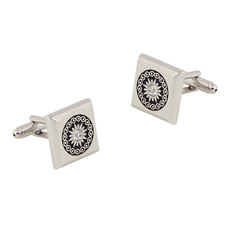 Square Carving Ornaments Mens' Cufflinks for Party/ Wedding/ Business