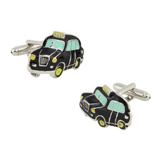 Unique Black Car Ornaments Mens' Cufflinks for Party/ Wedding/ Business