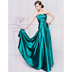 Discount Column/ Sheath Satin Floor Length Strapless Evening Dresses