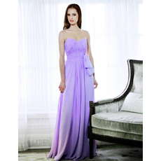 Designer Fabulous Sheath Chiffon Floor Length Sweetheart Evening Dresses