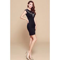 Colletion Black Column/ Sheath Short Satin Homecoming/ Party Dresses