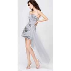Customized Column/ Sheath Strapless Short Sequin Homecoming/ Party Dresses