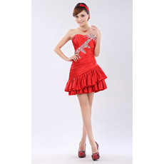 Wholesale A-Line Sweetheart Short Taffeta Homecoming/ Party Dresses