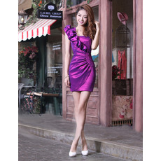 Newest Styple Sexy Sheath One Shoulder Short Homecoming/ Party Dresses