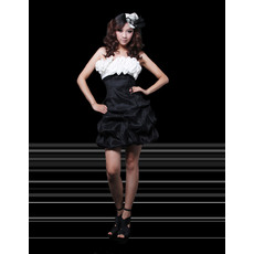 Fabulous Column Strapless Short Satin Homecoming/ Party Dresses