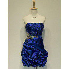nexpensive Strapless Short Taffeta Homecoming/ Party Dresses