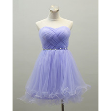 Affordable Cute Sweetheart Short Organza Homecoming/ Party Dresses
