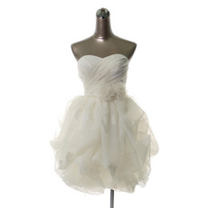 Affordable Elegant Sweetheart Short Organza Homecoming Dresses