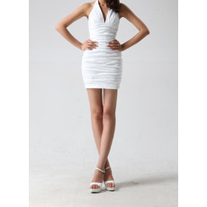 Awasome Sexy Sheath/ Column Halter Short Ruched Homecoming Dresses