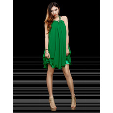 Worldwide Sexy Column/ Sheath Halter Short Chiffon Homecoming/ Party Dresses