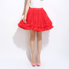 Women's Sexy Red Tulle Mini Tutus/ Skirts/ Wedding Petticoats
