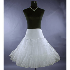 Cute A-Line White Organza Wedding Petticoats/ Skirts for Brides
