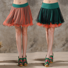Sexy Rainbow Multi-Colored Organza Mini Skirts/ Wedding Petticoats