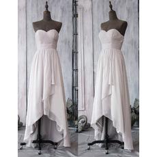 Custom Sweetheart High-Low Asymmetric Chiffon Bridesmaid Dresses