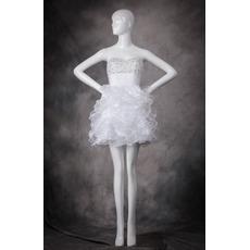 Sweetheart Short Ruffle Skirt Homecoming Dresses