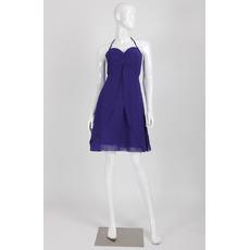 Custom Empire Halter Sweetheart Short Chiffon Homecoming Dresses