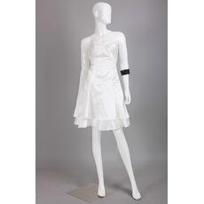 Discount Sweetheart Sleeveless Mini/ Short Satin Homecoming Dresses