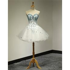 Custom Ball Gown Sweetheart Short Rhinestone Homecoming Dresses