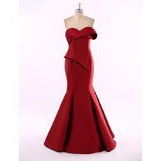 Sexy Mermaid Sweetheart Floor Length Satin Evening/ Prom Dresses