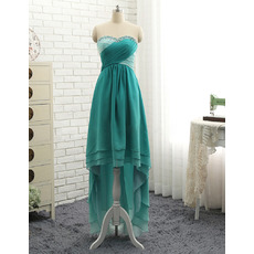 Affordable Sweetheart High-Low Chiffon Asymmetric Prom/ Evening Dress