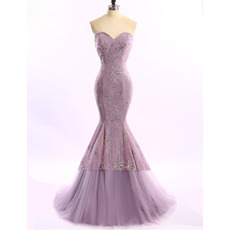 Discount Mermaid/ Trumpet Sweetheart Long Lace Evening Dresses
