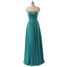 Custom Sweetheart Floor Length Chiffon Bridesmaid/ Wedding Party Dress