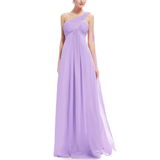 New Style One Shoulder Floor Length Chiffon Bridesmaid Dresses