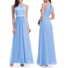 Custom Floor Length Chiffon Bridesmaid/ Wedding Party Dresses