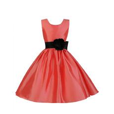 Elegant Ball Gown Sleeveless Short Taffeta Cocktail Dresses with Belts