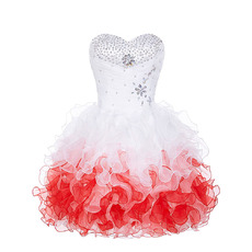 Sexy Sweetheart Short Organza Bubble Skirt Cocktail Party Dresses