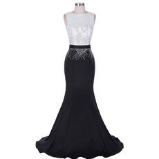 Sexy Sheath Sleeveless Floor Length Chiffon Evening/ Prom Dresses