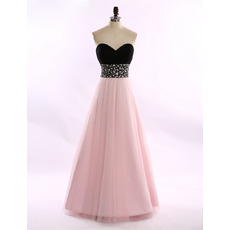 Shimmering Sweetheart Tulle Evening/ Prom/ Formal Dresses with Rhinestone Waist